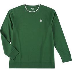 Mens Solid Fleece Pullover