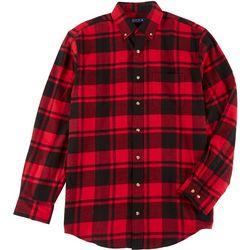 Boca Classics Mens Plaid Flannel Shirt