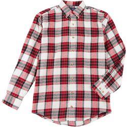 Boca Classics Mens Flannel Plaid Shirt