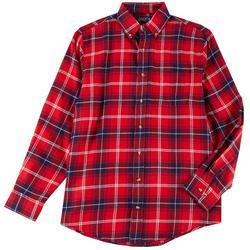 Mens Button Down Flannel Shirt