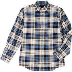 Boca Classics Mens Plaid Flannel Long Sleeve Shirt