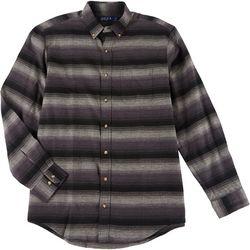 Boca Classics Mens Stripe Flannel Shirt