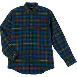 Mens Long Sleeve Plaid Flannel Shirt