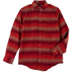 Boca Classics Mens Stripe Flannel Shirt