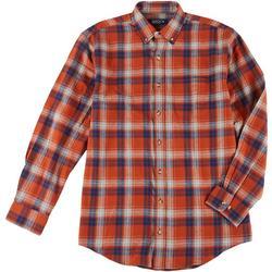 Mens Plaid Flannel Button Down Shirt
