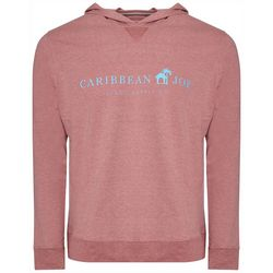 Caribbean Joe Mens Logo Heathered Hoodie