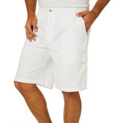 Mens Elastic Waist Cargo Shorts