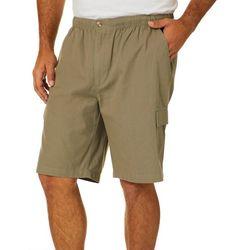 Windham Pointe Mens Elastic Waist Cargo Shorts