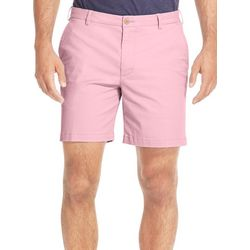 IZOD Mens Saltwater Solid Stretch Chino Shorts