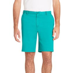 IZOD Mens Classic Fit Solid Saltwater Stretch Chino Shorts