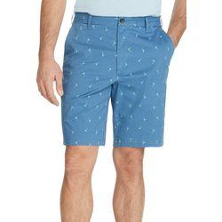IZOD Mens Saltwater Stretch Martini Print Chino Shorts