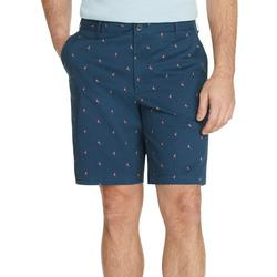 Mens Saltwater Stretch Flamingo Print Chino Shorts