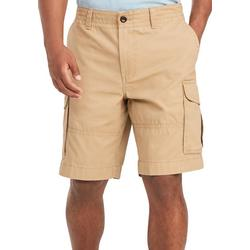 Mens Solid Essential Cargo Shorts