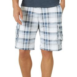 Lee Mens Extreme Motion Carolina Plaid Cargo Shorts