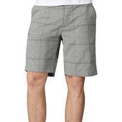 Mens Triflex Plaid Print Shorts