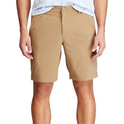 Chaps Mens Solid Performance Flat Front Travel Shorts