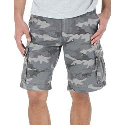 Mens Camouflage Print Cargo Shorts