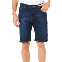 Mens Solid Flex Denim Shorts