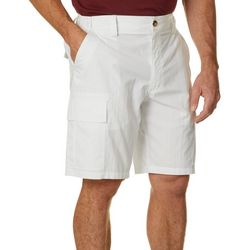 Mens Solid Ripstop Cargo Shorts