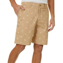 Boca Classics Mens Pineapple Print Cell Pocket Shorts