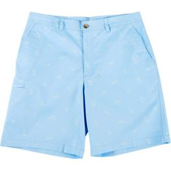 Boca Classics Mens Palm Tree Print Cell Pocket Shorts