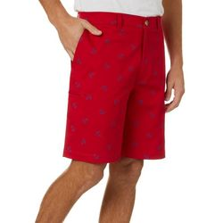 Boca Classics Mens Anchor Print Cell Pocket Shorts