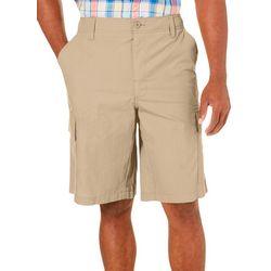 Mens Ripstop Solid Cargo Shorts