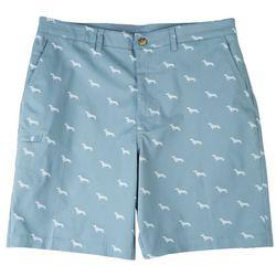 Boca Classics Mens Dachshund Cell Pocket Shorts