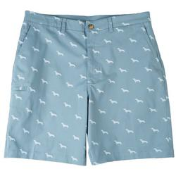 Mens Dachshund Cell Pocket Shorts