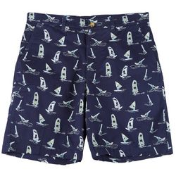 Boca Classics Mens Windsurf Print Cell Pocket Shorts