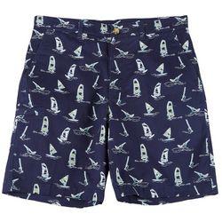 Boca Classics Mens Windsurf Print Cell Pocket Shorts