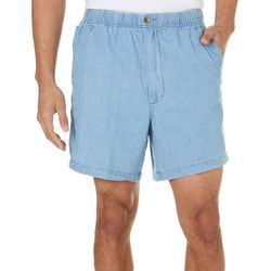 Mens Chambray Sport Shorts