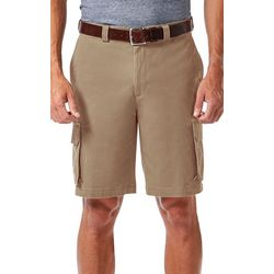 Haggar Mens Stretch Comfort Cargo Shorts