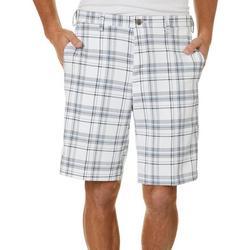 Mens Cool 18 Pro Seersucker Plaid Flat Front Shorts