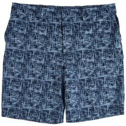 Haggar Mens Watercolor Flat Front Board Shorts