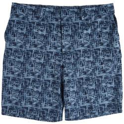 Mens Watercolor Flat Front Board Shorts