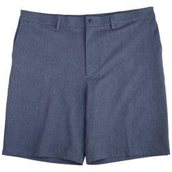 Haggar Mens  Melange Flat Front Board  Shorts