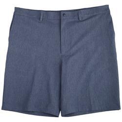 Mens  Melange Flat Front Board  Shorts