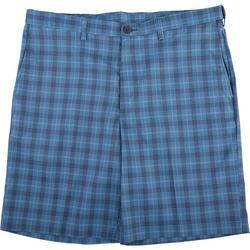 Mens Cool 18 Pro Windowpane Plaid Flat Front Shorts