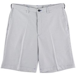 Haggar Mens Cool 18 Pro Tattersall Plaid Shorts