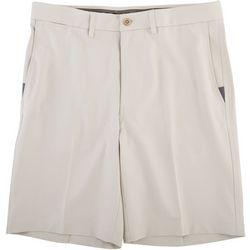 Haggar Mens Cool 18 Pro Superflex Flat Front Shorts