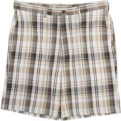 Mens Cool 18 Pro Madras Plaid Shorts