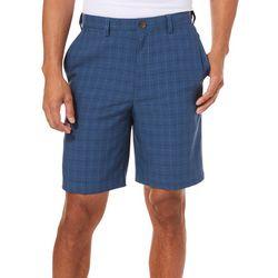 Haggar Mens Cool 18 Pro Windowpane Plaid 9.5 Shorts