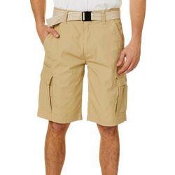 Wearfirst Mens Jasper Belted Cargo Shorts