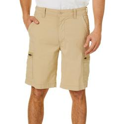 Mens Solid Hiker Cargo Shorts