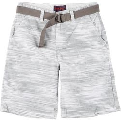 Wearfirst Mens Belted Stripe Print Shorts