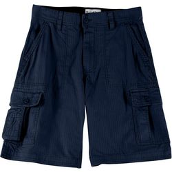 Wearfirst Mens Solid Cotton Ripstop Belted Cargo Shorts