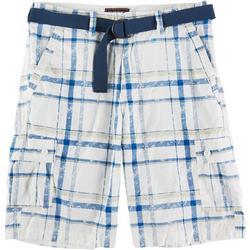 Mens Kalua Plaid Cargo Shorts