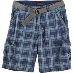 Wearfirst Mens Plaid Cargo Shorts