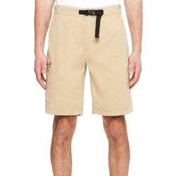 Wearfirst Mens River Solid Belted Hiker Shorts